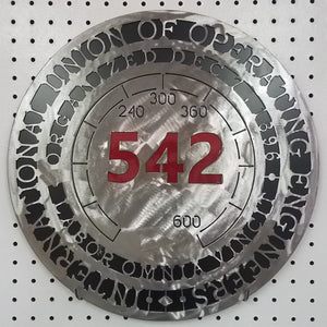 Local 542 (3 color) Brushed, Black & Red