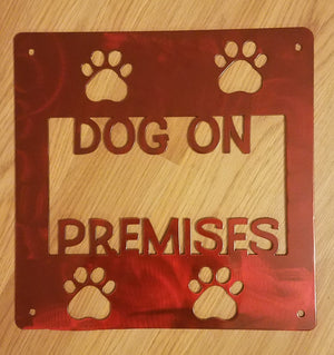 Dog on Premises Sign
