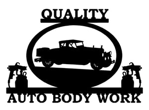 Auto Body Work Sign