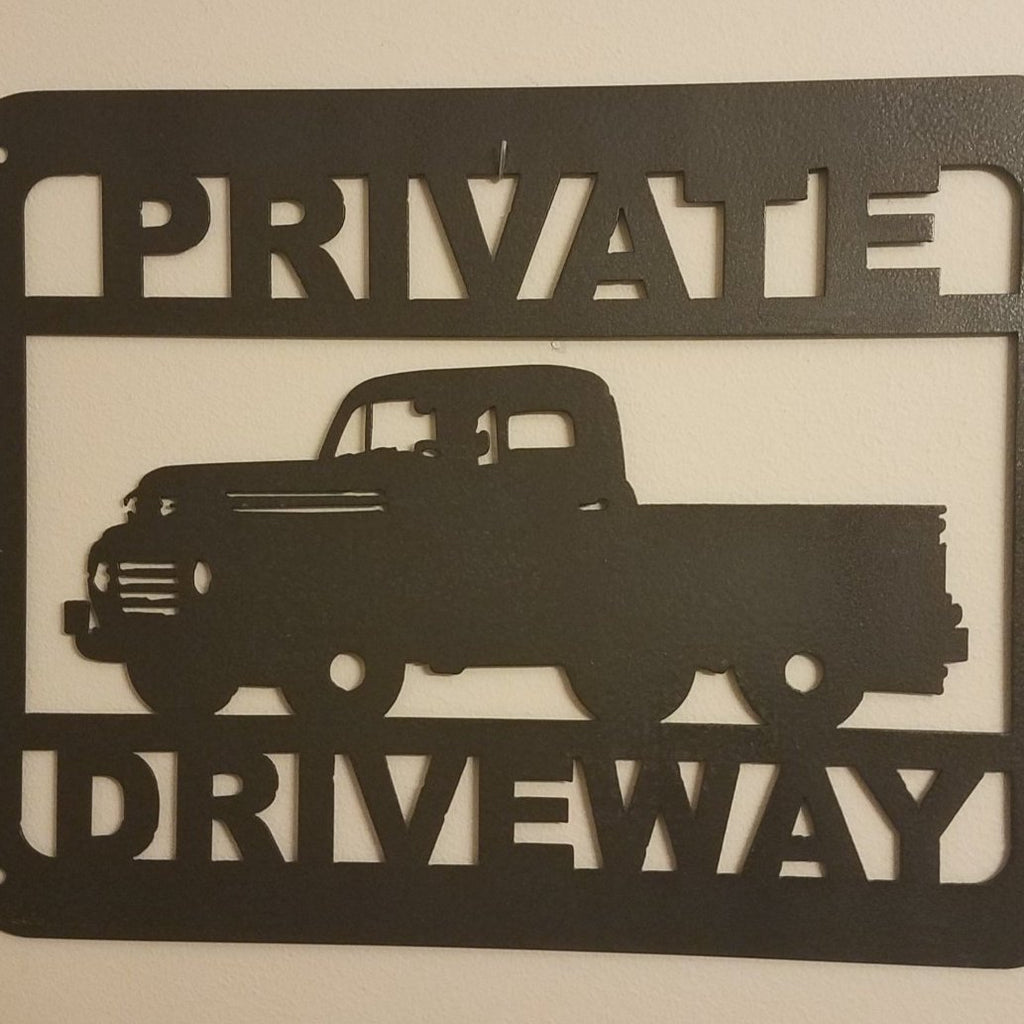 Private Drive Metal Sign