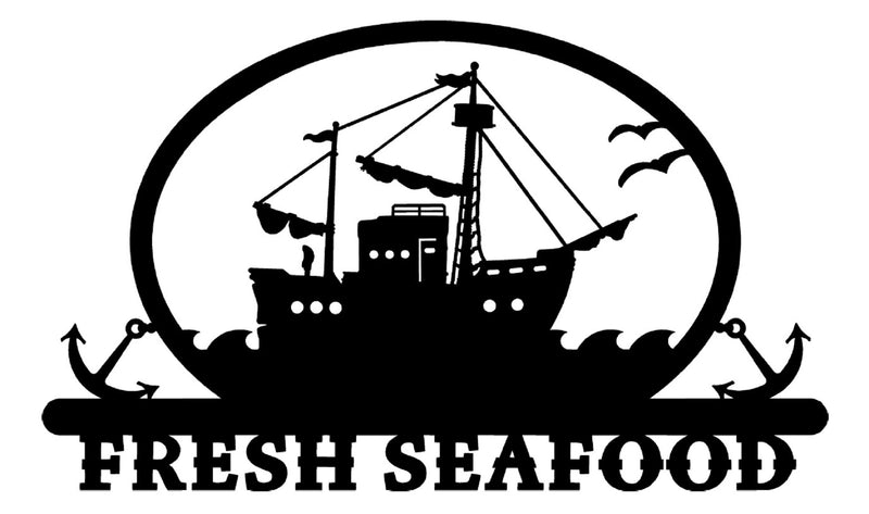 Fresh Seafood Sign