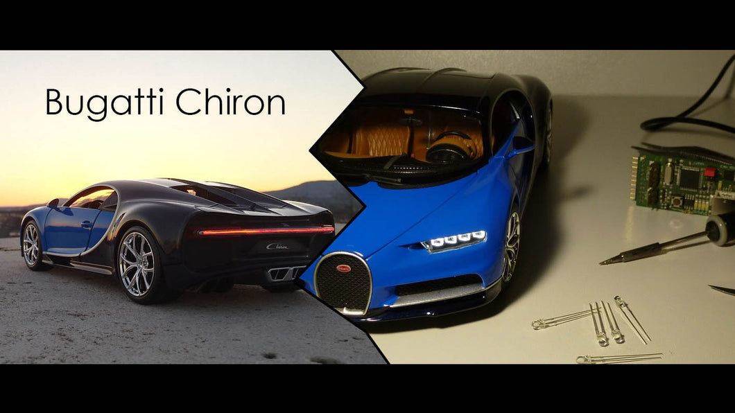 Bugatti Chiron 1:18 with lights