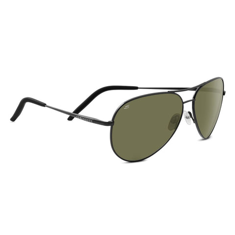 Carrara Sunglasses, Shiny Dark Gunmetal Frame, Polarized Lens