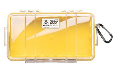 Pelican 1060 Micro Case Yellow-clear