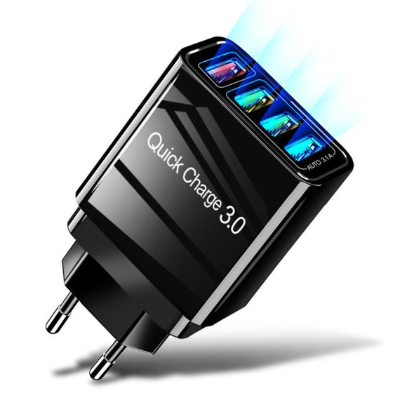 Viyado 48W Quick Charge Port Wall Adapter USB Fast Charger For Android and iPhones