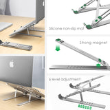 Viyado Laptop Holder for MacBook Air Pro Notebook Bracket Foldable Aluminium Alloy Stand