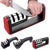 Viyado Kitchen Knife Sharpener Tools 3 Stages Professional Stone Ceramic Tungsten Steel