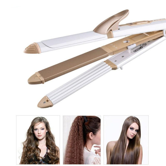 Viyado Hair Straightener Curling Iron Multifunction Corrugated Flat Corn Plate Heated Roller