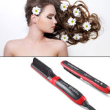 Viyado Hair Straightener Electric Comb Brush LCD Heated Ceramic Quick Beard Curling Curler