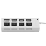 Viyado High Speed LED Switch 4 Port USB Hub Splitter For Tablet Laptop Computer Notebook