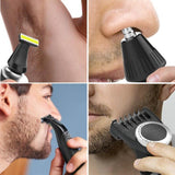 Viyado Facial Body Hair Trimmer Beard Hair Cutter Nose Mustache Rechargeable Shaver Razor
