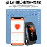 Viyado Weather Display Smart Watch Blood Pressure Heart Rate Monitor Fitness Tracker Bracelet