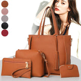 Viyado Leather Handbag Zipped Purse Shoulder Bag Purse Messenger Satchel Set
