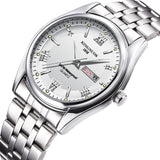 Viyado Stainless Steel Analog Display Date Week Waterproof Quartz Watch