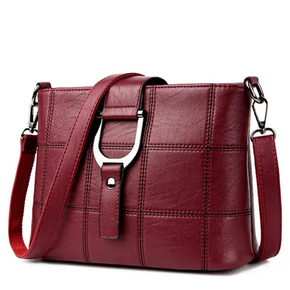 Viyado Soft Leather Shoulder Handbags Famous Flap Casual Crossbody Messenger Bags