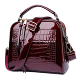 Viyado Crocodile Leather Handbags Designer Crossbody Shoulder Bag Shopper Purse