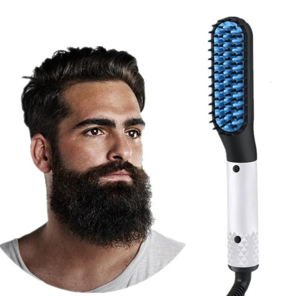 Viyado Beard Hair Straightener Brush Hairdressing Comb Electric Comb for Man and Woman