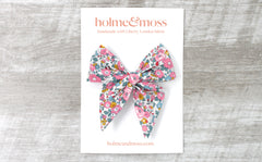 Large Bow Hair Clip - Liberty Betsy Ann E Print