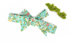 Liberty of London Bow Headband, Betsy D Turquoise Print