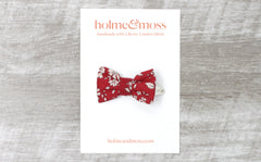 Bow Hair Clip - Liberty Capel B-40 Print