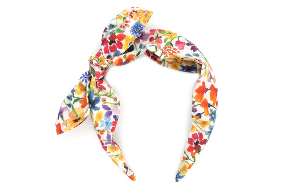 Women's Side Bow Headband - Dreams of Summer A Print