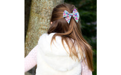 Large Bow Hair Clip - Liberty Capel G Print