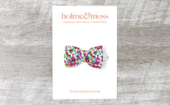 Bow Hair Clip - Liberty Emma and Georgina A-40 Print