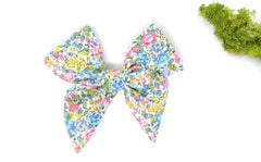 Large Bow Hair Clip - Liberty Emma and Georgina B-40 Print