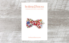 Bow Hair Clip - Liberty Emma and Georgina C Print