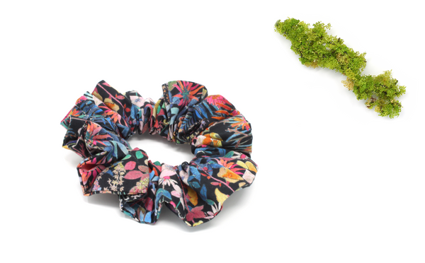 Scrunchie - Liberty Faria Flowers B Print