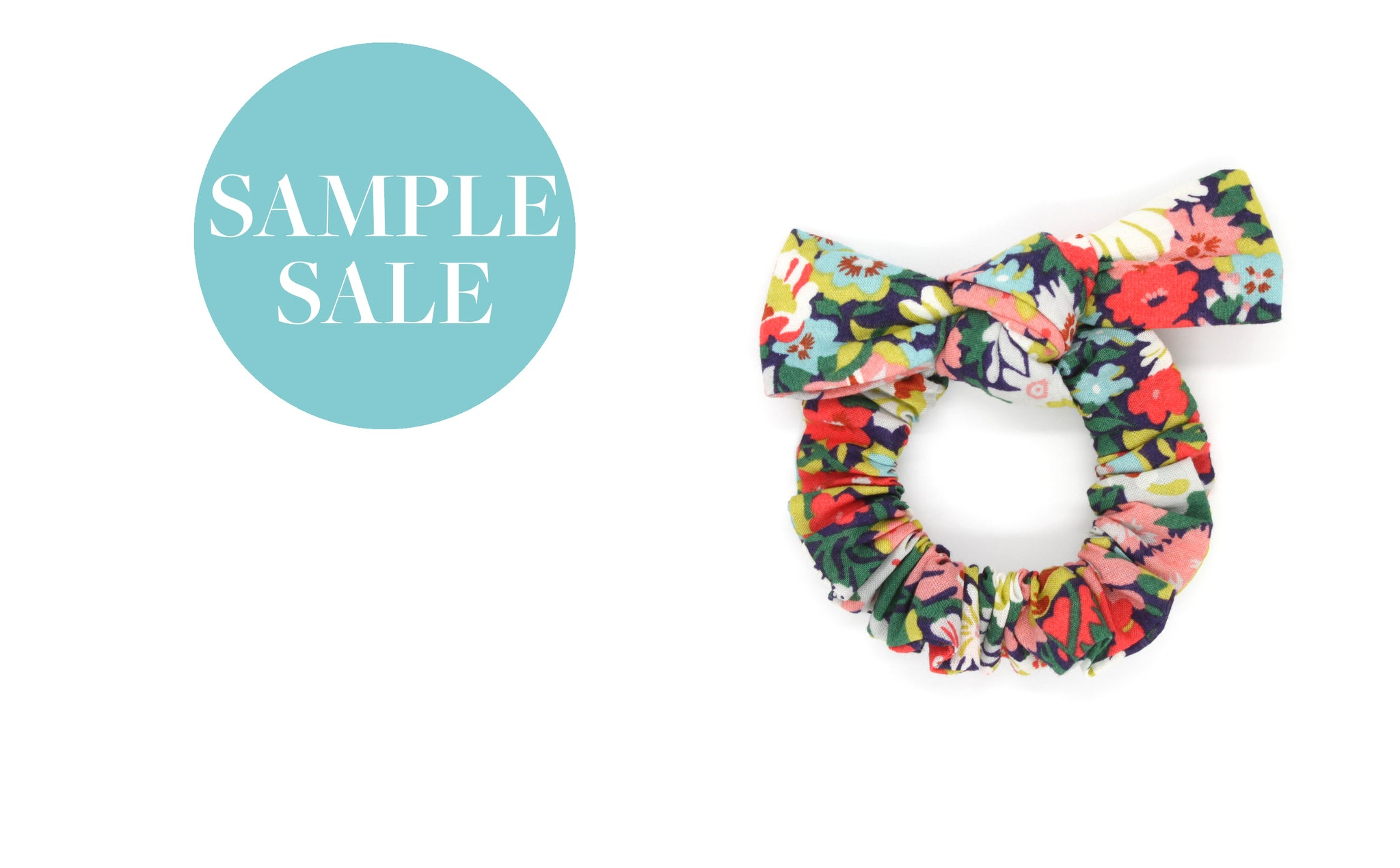 Girl's Bow Scrunchie - Liberty Thorpe C Print