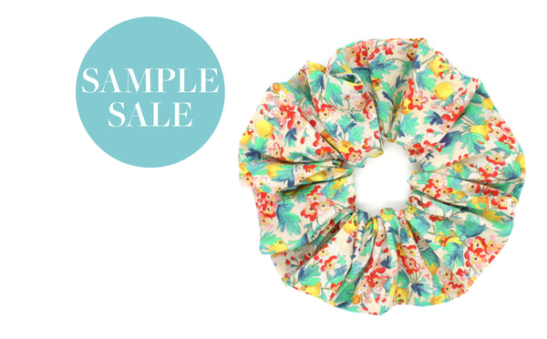Large Scrunchie - Liberty Spring Orchard Print
