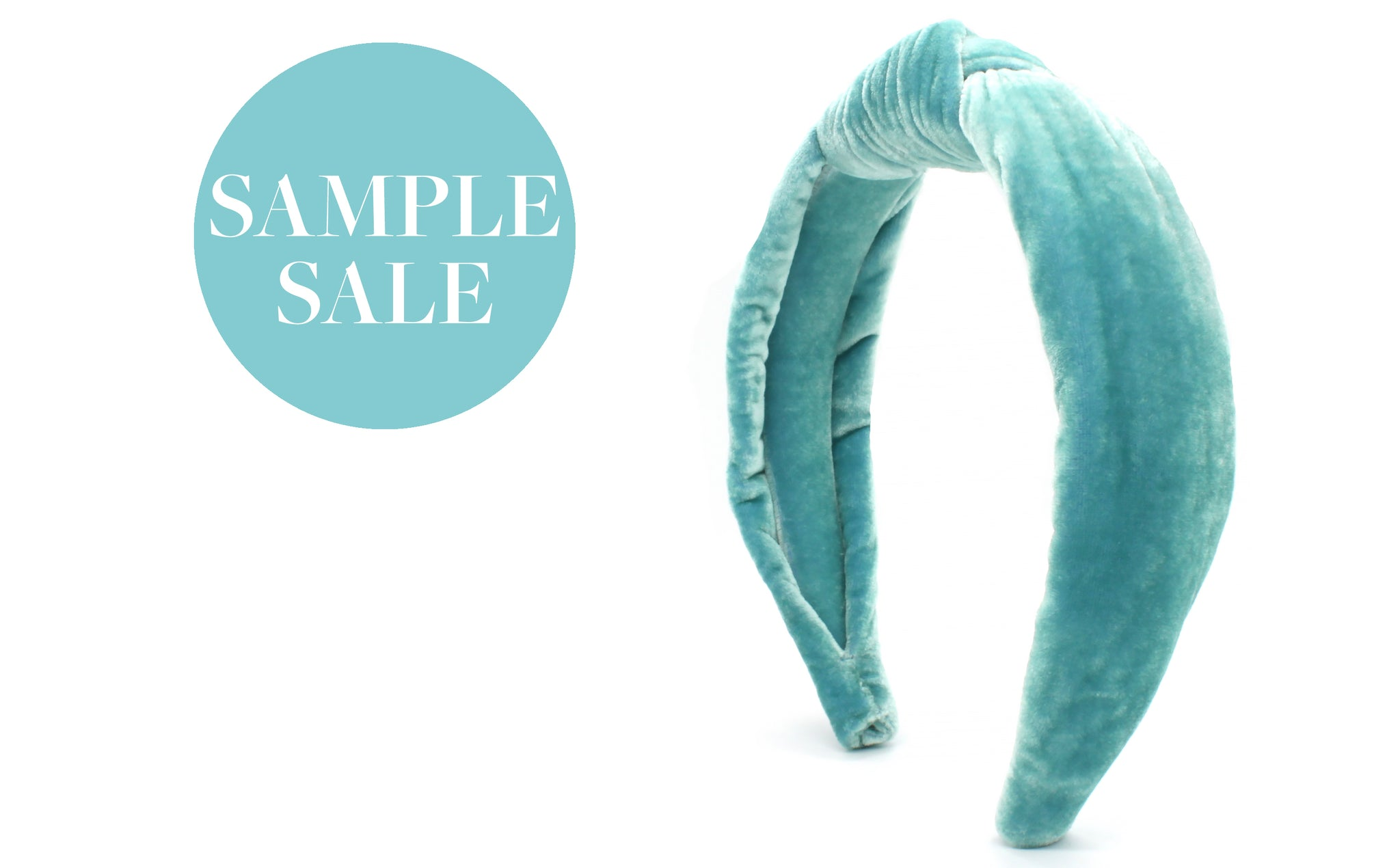 Women's Padded Knot Headband - Sea Green Velvet
