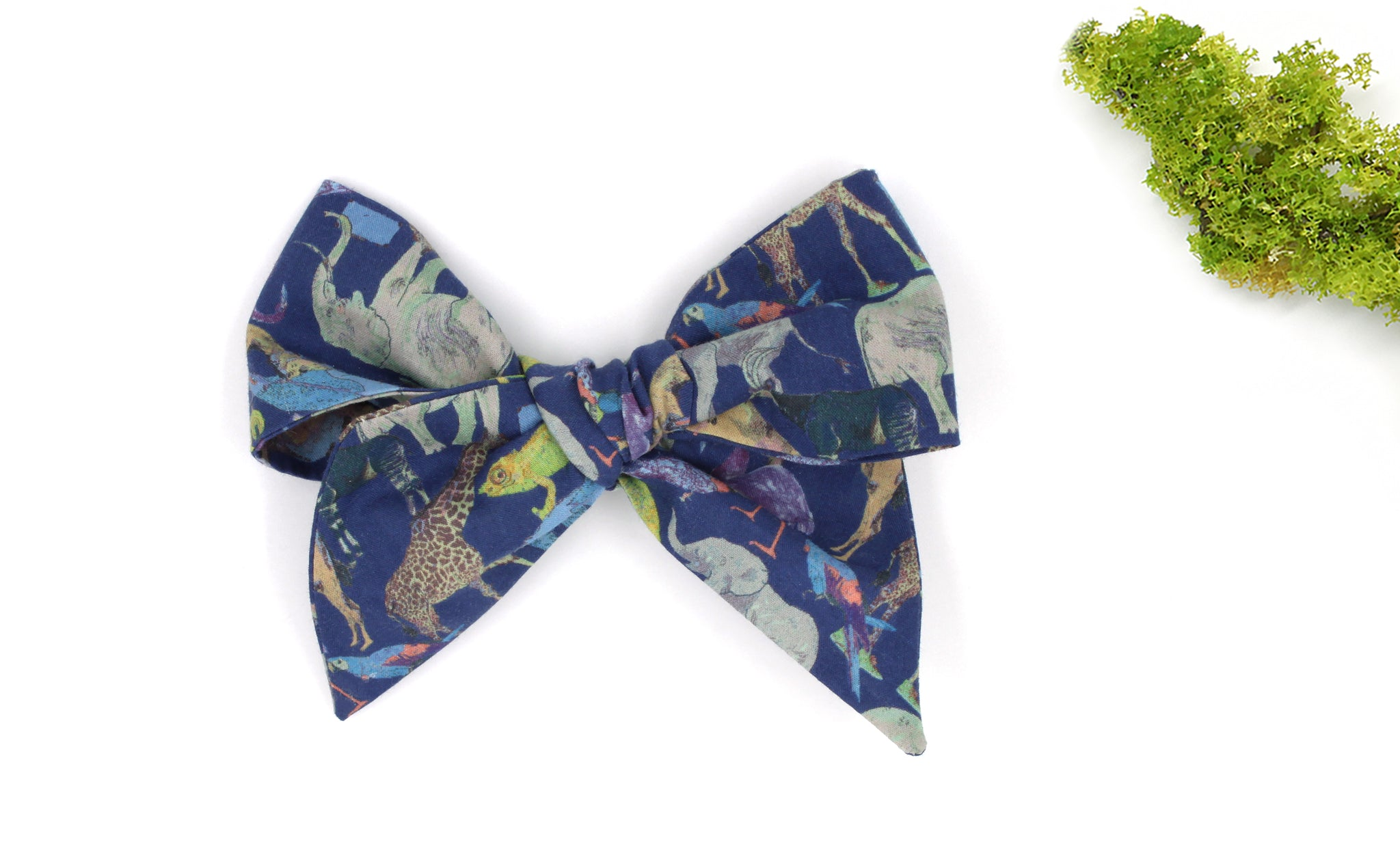 Large Bow Hair Clip - Liberty Queue for the Zoo H Print