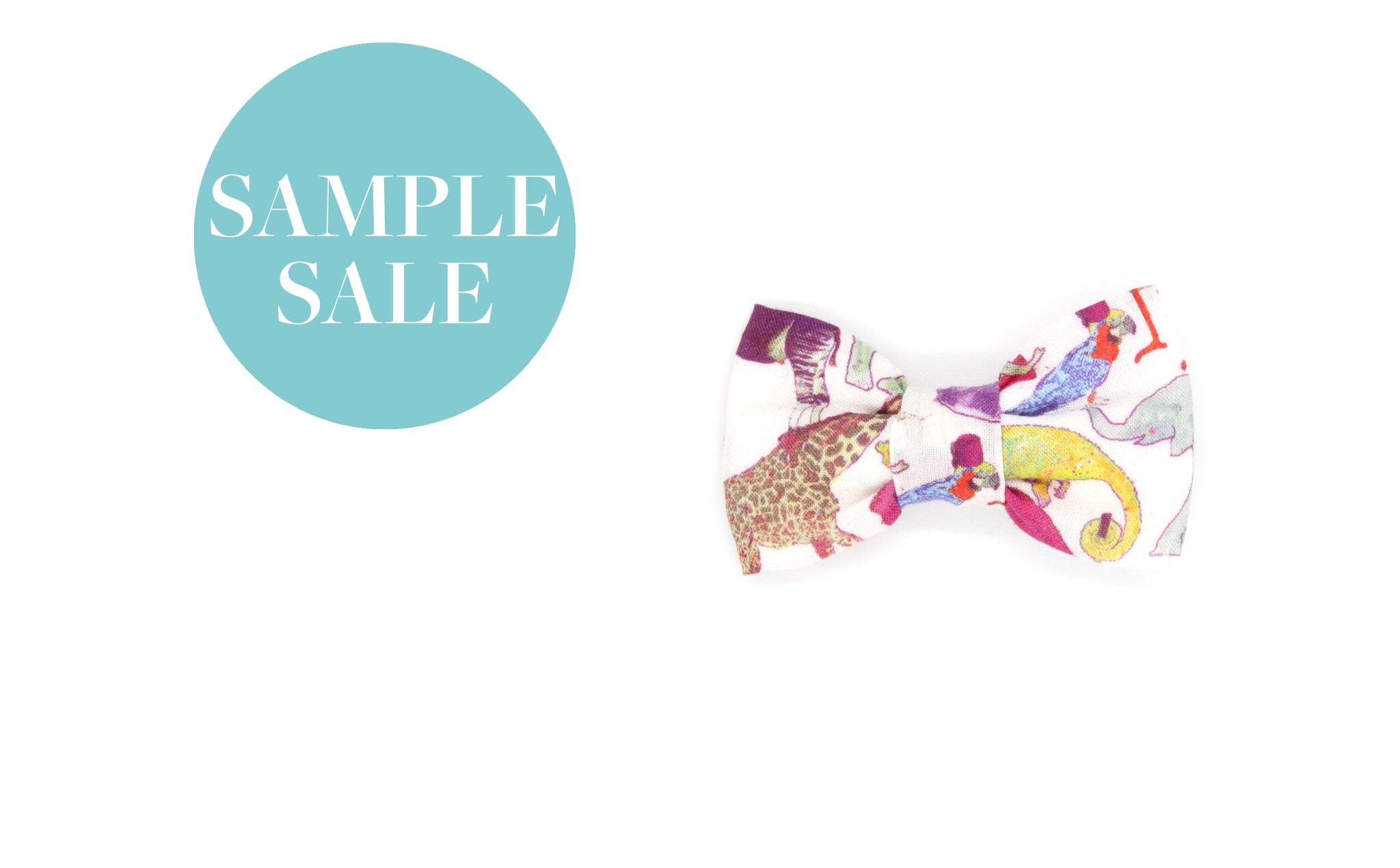 Bow Hair Clip - Liberty Queue for the Zoo A Print, Alligator Clip