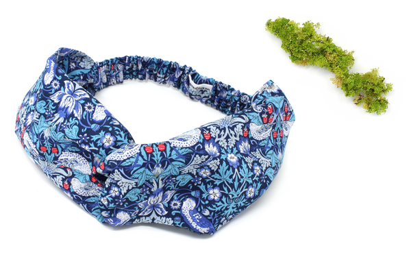 Women's Twist Headband - Liberty Strawberry Thief M Print