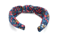 Women's Padded Knot Headband - Liberty Wiltshire Berry B-40 Print