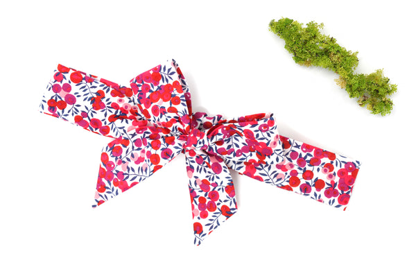 Girl's Bow Headband - Liberty Wiltshire Berry S Print