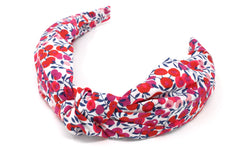 Women's Classic Knot Headband - Liberty Wiltshire Berry S Print