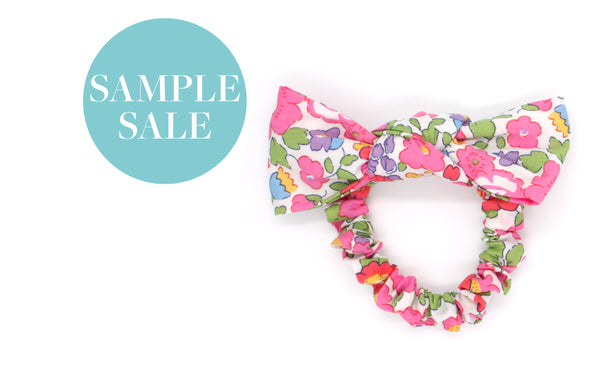 Women's and Girls' Bow Scrunchies - Liberty Betsy A-40 Print