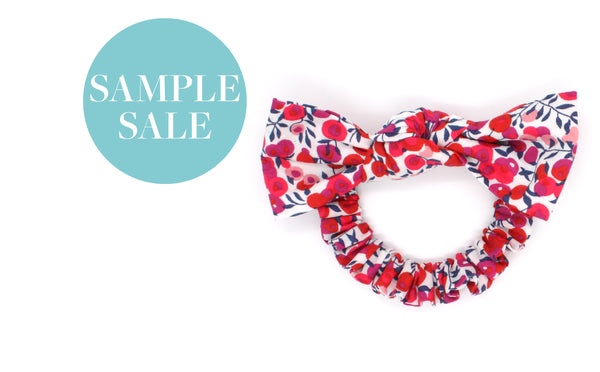Women's and Girls' Bow Scrunchies - Liberty Wiltshire Berry S Print