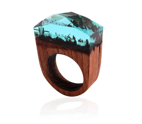 Forest Handcrafted Wood Rings - BestTrendsShop.com