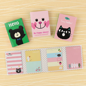 4 Creative Mini Animal Sticker Memo Pads
