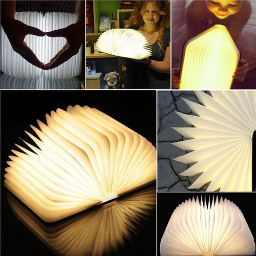 Wooden Folding LED Book Light