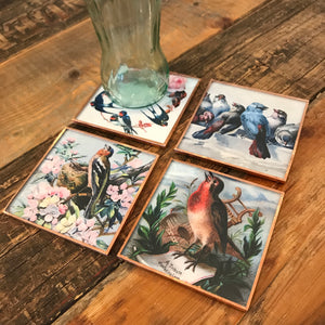 Lovely Birds Coaster Set