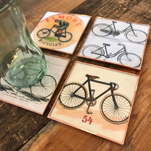 Vintage Bicycles Coaster Set