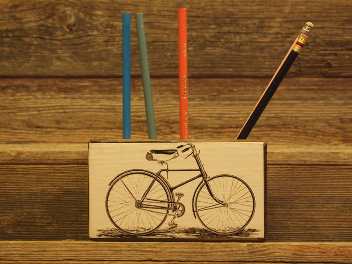 Vintage Bicycle Desk Organizer