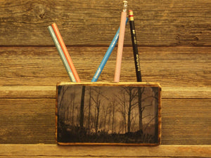 Winter Forest Desk Organizer