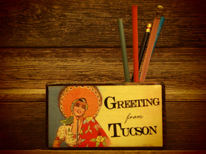 Greeting from Tucson Desk Organizer