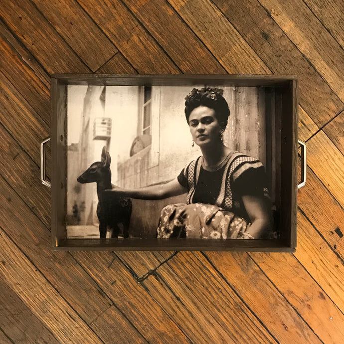 Frida with Deer Tray